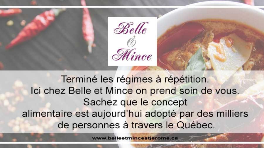 Manger sainement avec Belle et Mince!